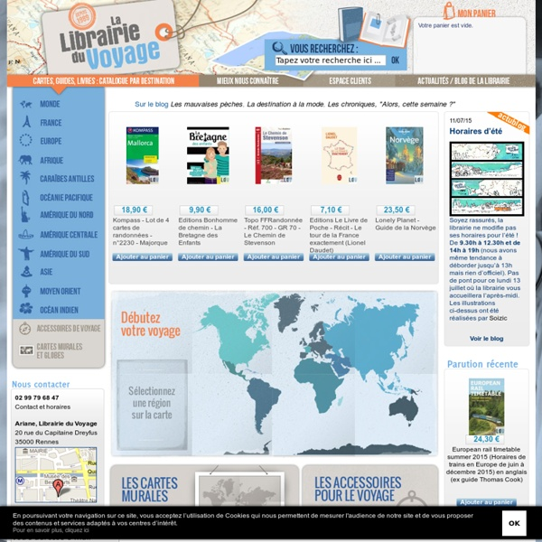 Librairie du voyage - Ariane - Guides et Cartes