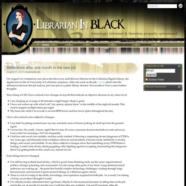 Librarian in Black – Sarah Houghton