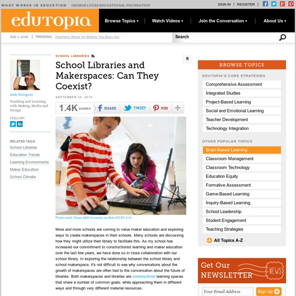School Libraries and Makerspaces: Can They Coexist?