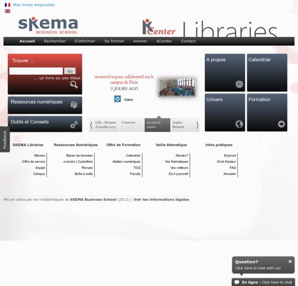 Portail des médiathèques de SKEMA Business School