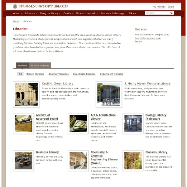 SULAIR: Libraries and Collections: Libraries and Collections A-Z