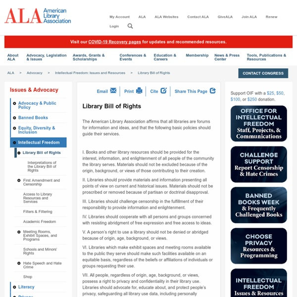 Library Bill of Rights - ALA