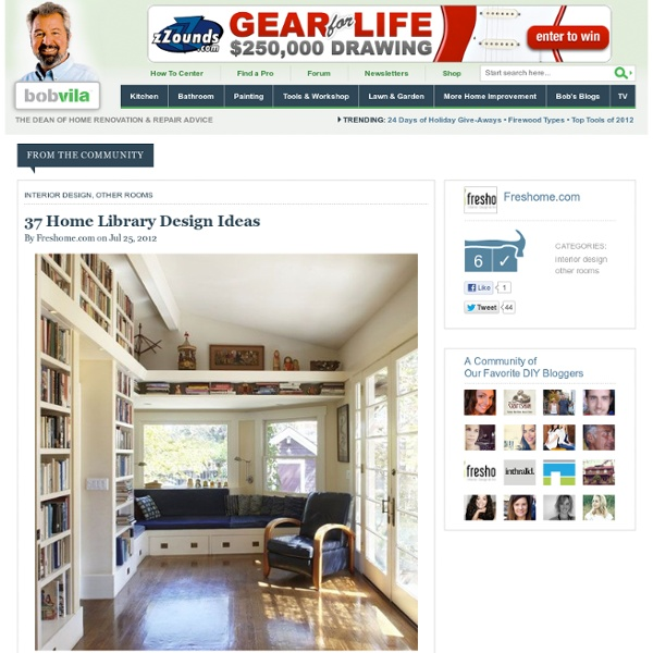37 Home Library Design Ideas by Micle Mihai-Cristian on Bobvila.com