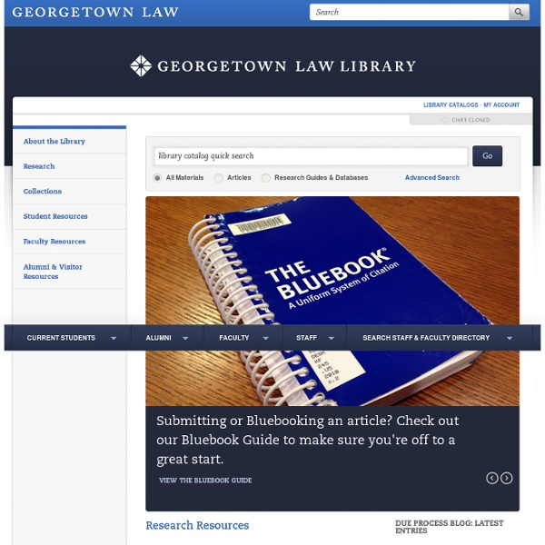 Library Home Page — Georgetown Law