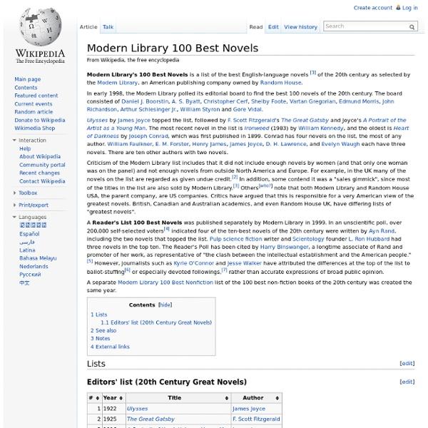 Modern Library 100 Best Novels