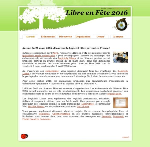 Libre en Fête 2014 - Accueil