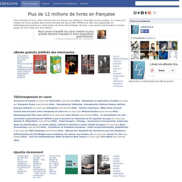 LibreLivre.fr - Rechercher et Télécharger les livres que vous voulez