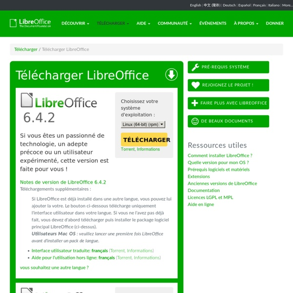 Téléchargement de LibreOffice en français