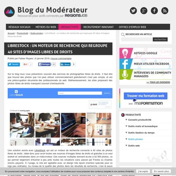 LibreStock : un moteur de recherche qui regroupe 40 sites d'images libres de droits