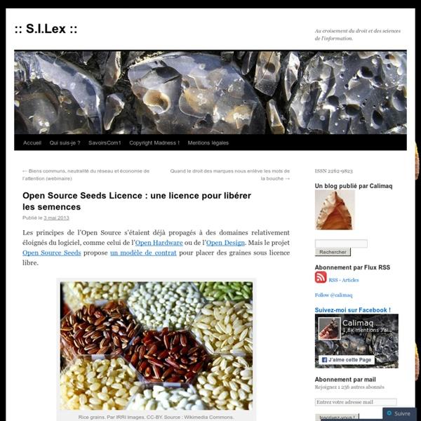 Open Source Seeds Licence : une licence pour libérer les semences