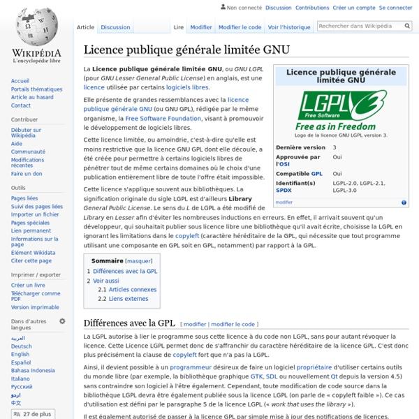 Licence publique générale limitée GNU