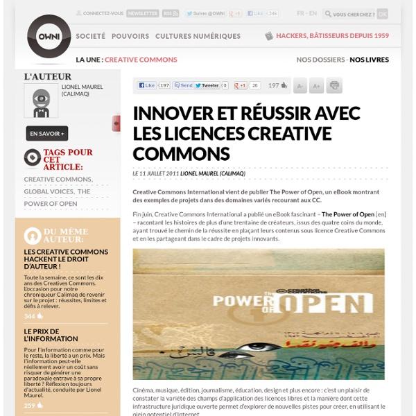 Innover et réussir avec les licences Creative Commons
