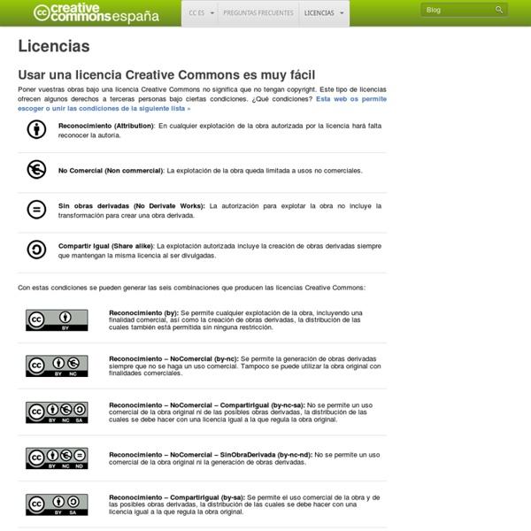 Licencias - Creative Commons