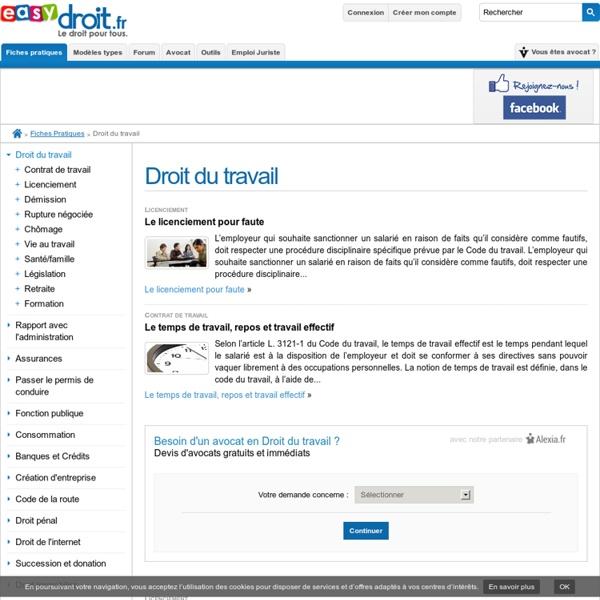 Droit social -Accueil