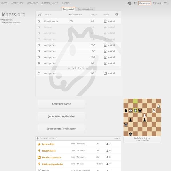 Jeu d'échecs gratuit en ligne