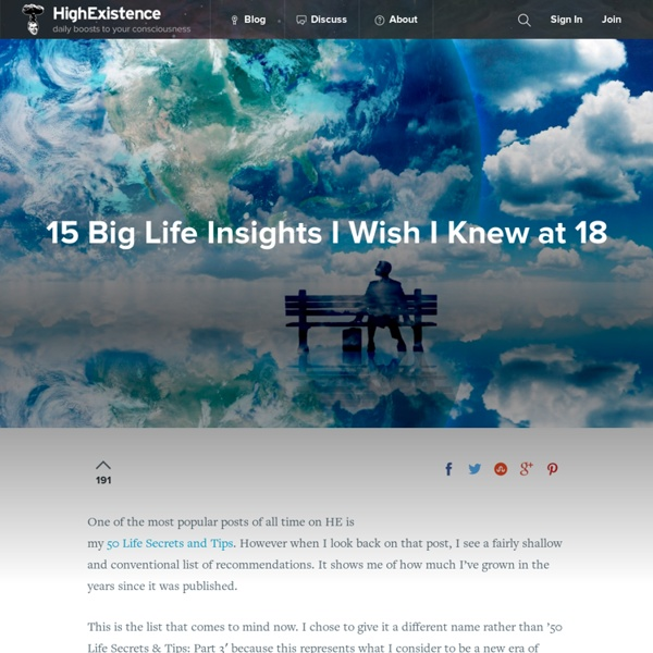 15 Big Life Insights I Wish I Knew at 18