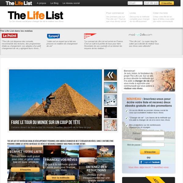 The Life List : Une liste pour changer de vie et vivre ses rêves