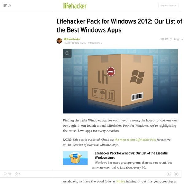 Pack for Windows: Our List of the Best Windows Apps