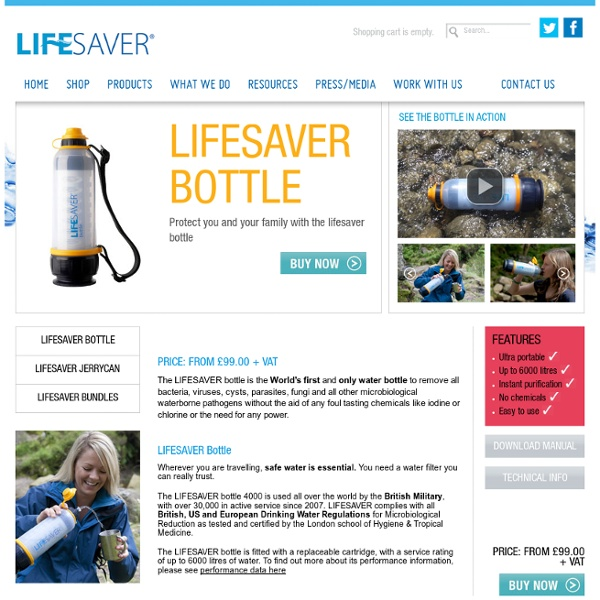 Filtration Systems - LIFESAVER systems