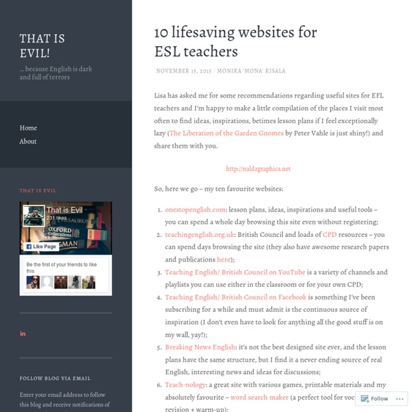 10 lifesaving websites for ESL teachers