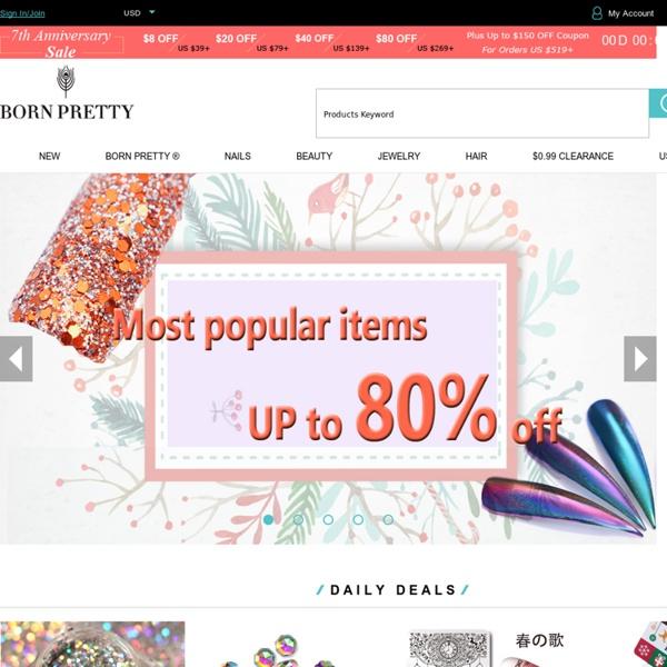 Quality Nail Art, Beauty & Lifestyle Products, Retail, Wholesale & OEM - bornprettystore.com