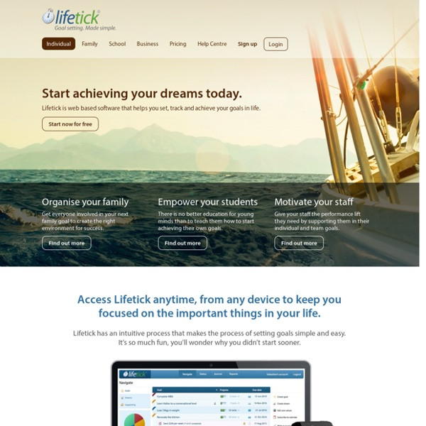 Lifetick - Online goal setting made simple