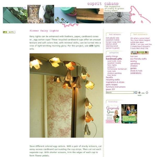 Fairy lights, esprit cabane, DIY decorative objects