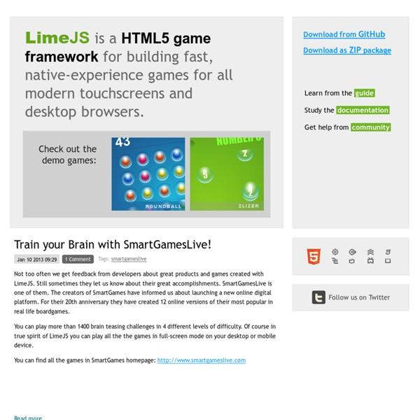 LimeJS HTML5 Game Framework