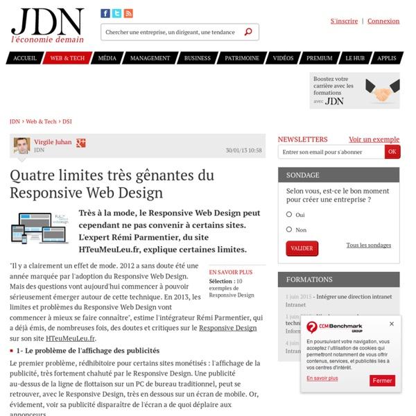Quatre limites très gênantes du Responsive Web Design