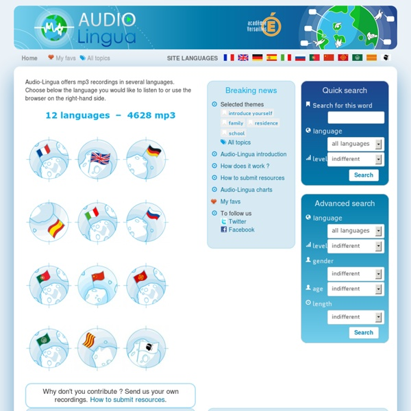 Audio Lingua - mp3 in english, german, spanish and french