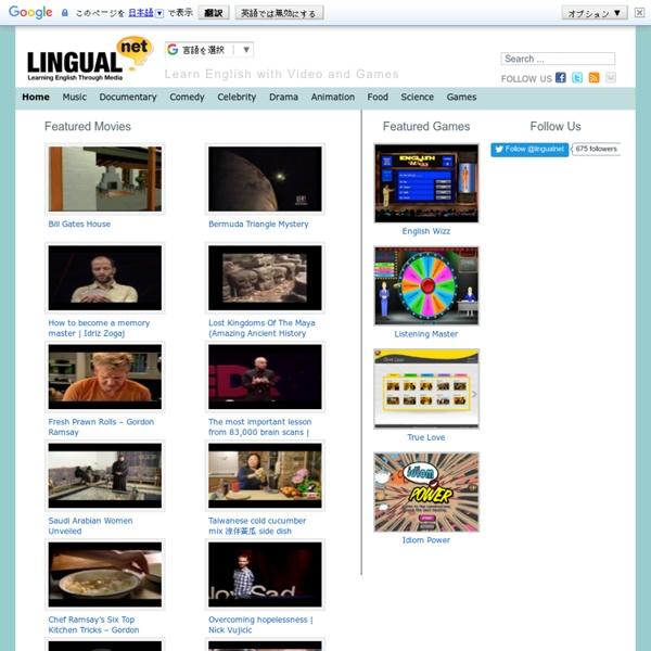 LingualNet - Learning English Through Media