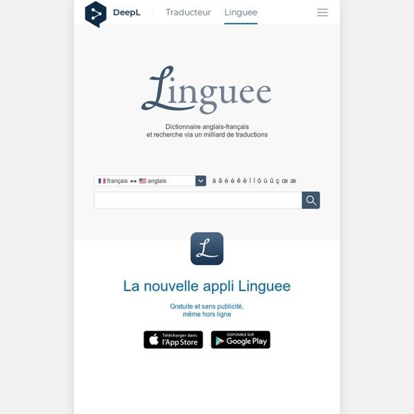 Dictionnaire anglais-français (et autres langues)