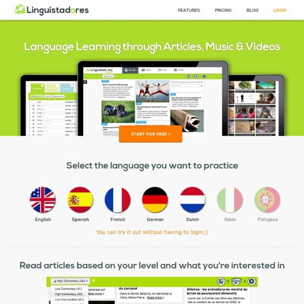 Learn English, French, German, Dutch, Spanish Free