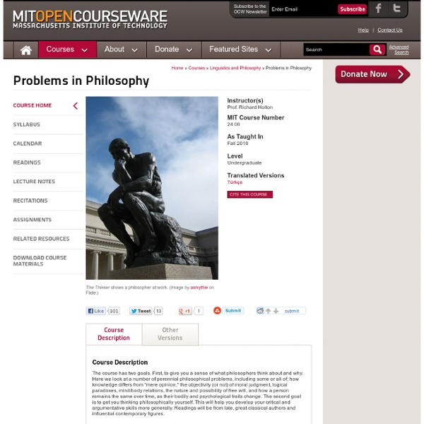 24.00 Problems in Philosophy, Fall 2010