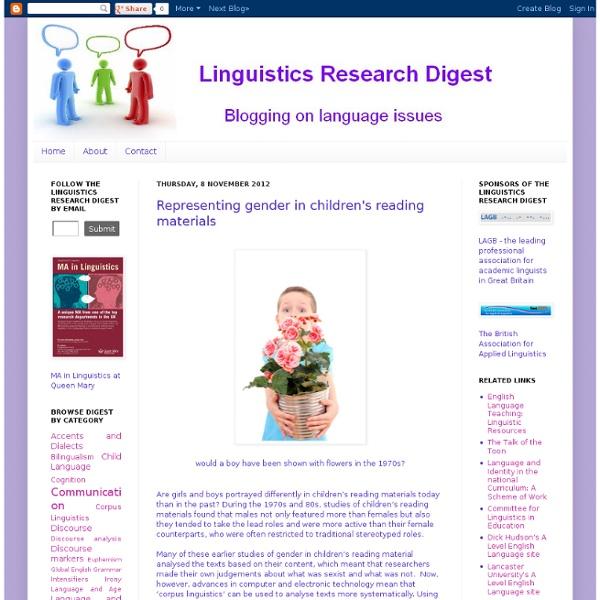 Representing gender in children's reading materials