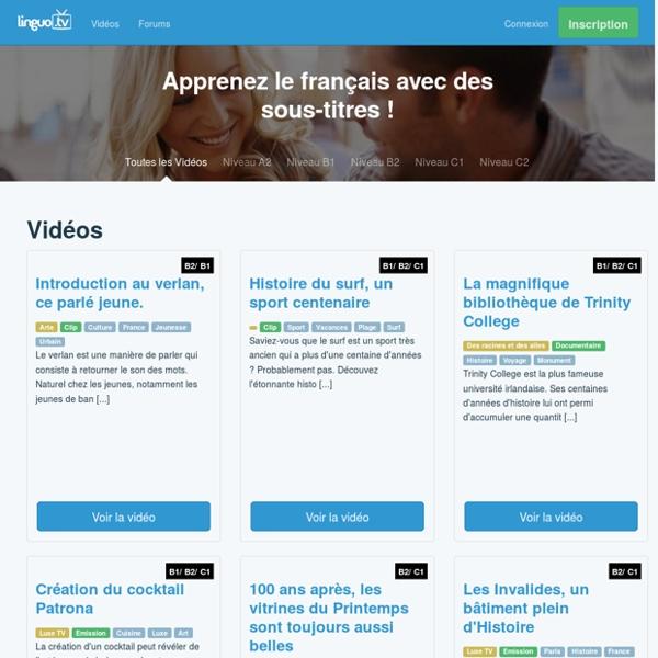 Linguo.tv - Apprendre le français avec des sous-titres de vidéos