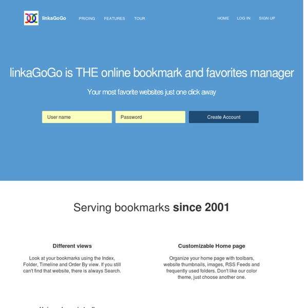 The online Favorites and Bookmark manager