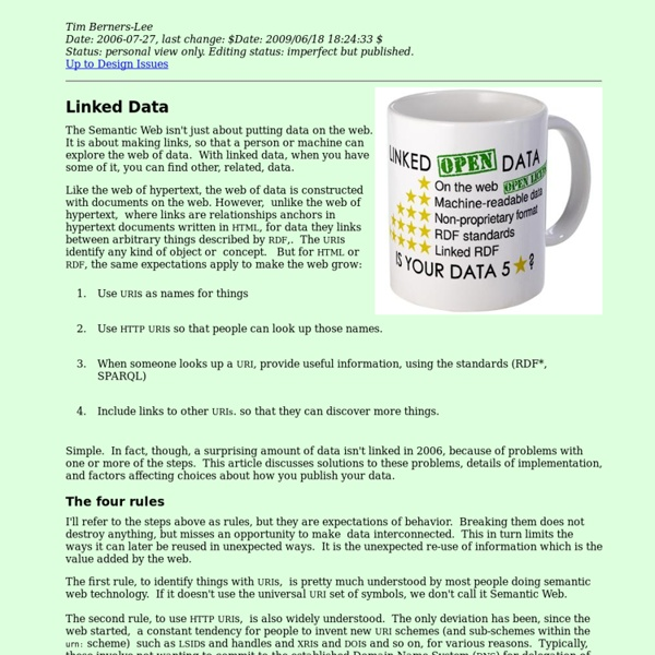 Linked Data - Design Issues