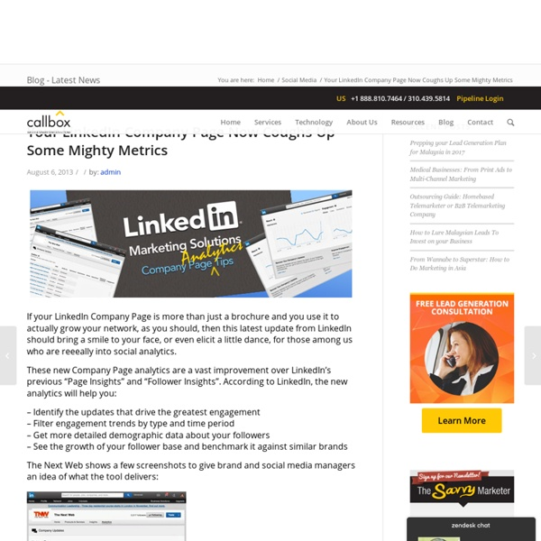Your LinkedIn Company Page Now Coughs Up Some Mighty Metrics - B2B Lead Generation Company Malaysia