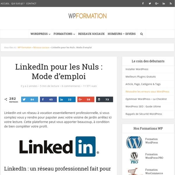 LinkedIn pour les Nuls - Mode d'emploi