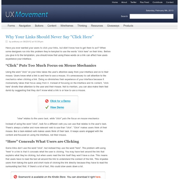 """Why Your Links Should Never Say """"Click Here"""""""