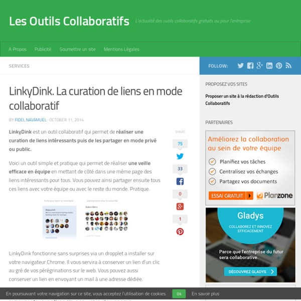 LinkyDink. La curation de liens en mode collaboratif