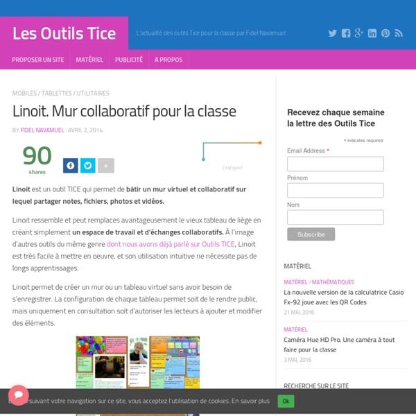 Linoit. Mur collaboratif pour la classe