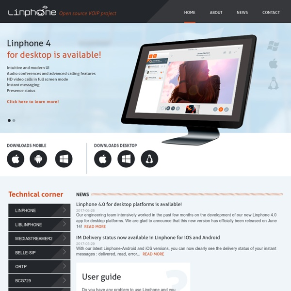 Linphone, an open-source video sip phone