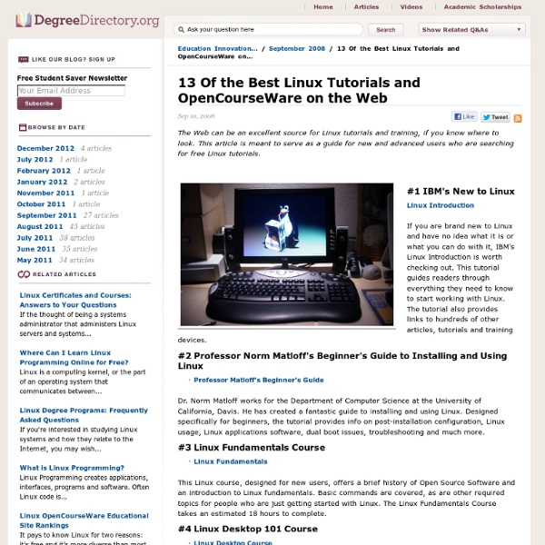 13 Of the Best Linux Tutorials and OpenCourseWare on the Web