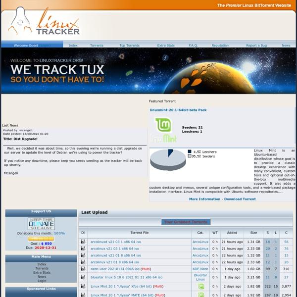 The Premier Linux BitTorrent Website