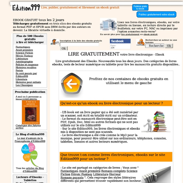 LIRE GRATUITEMENT un Ebook
