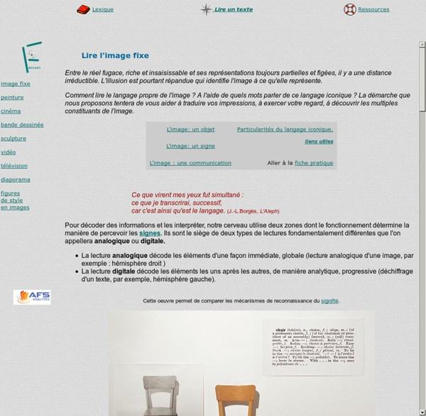 Le langage des images textes