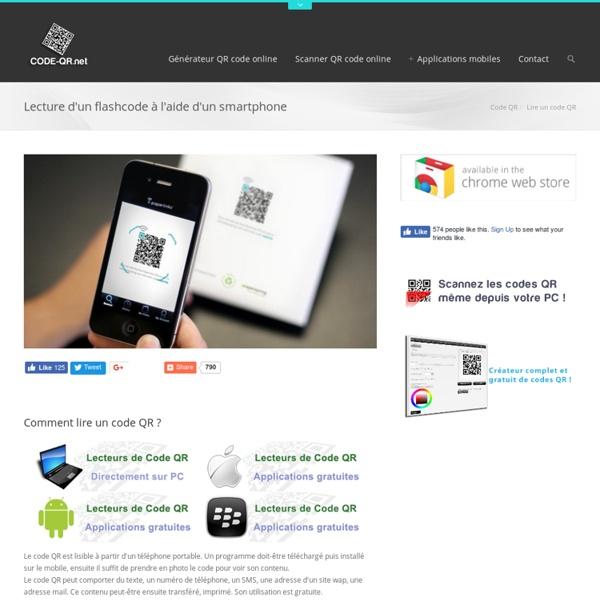 Lire un code QR avec un smartphone - Lecture des codes QR