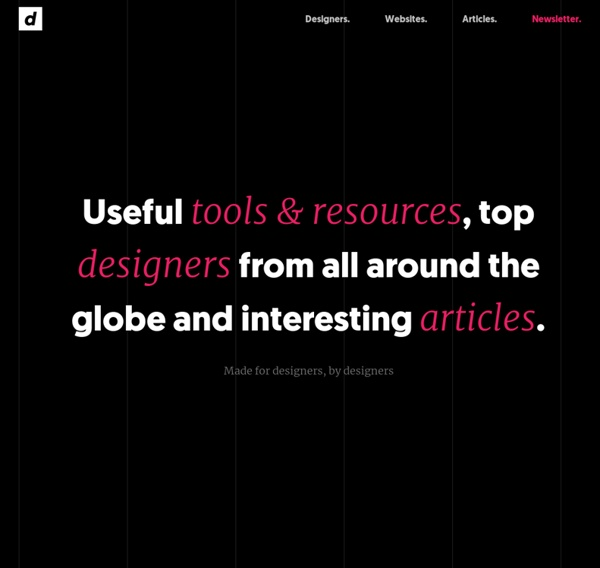 Designers' List - Great resources and websites for designers.